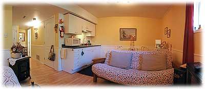 Jacquie's kitchen area