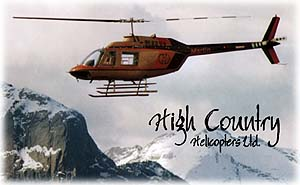 helicopter over the Canadian Rockies of Jasper