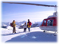 Heli-hiking/snowshoeing