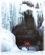 Jasper Adventure Centre Maligne Canyon, winter hikes.