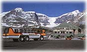 Snowcoach rides at the Columbia Icefields
