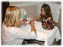 Jasper's Mountain Wellness Day Spa, a pre-teen manicure.