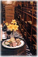 Andy's Bistro, wine cellar view