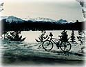Chris' bike at Patricia Lake.